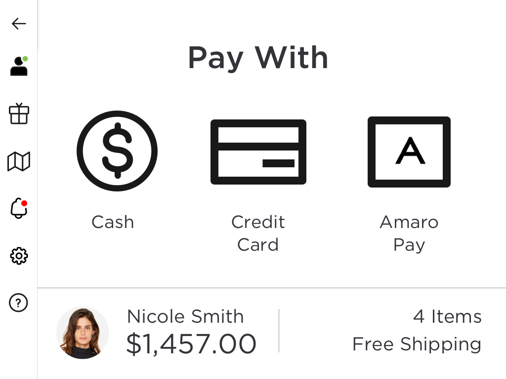 8.1 Amaro | Payment – Payment Options